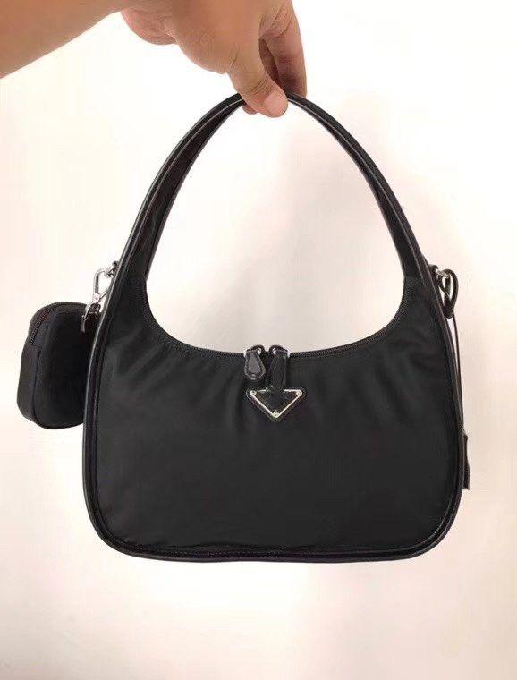 PRD Réédition 2005 sac à main Hobo Top mode sac à main de marque de qualité des femmes de sac de luxe en nylon Combo toile chaîne porte-monnaie Miland Crossbody