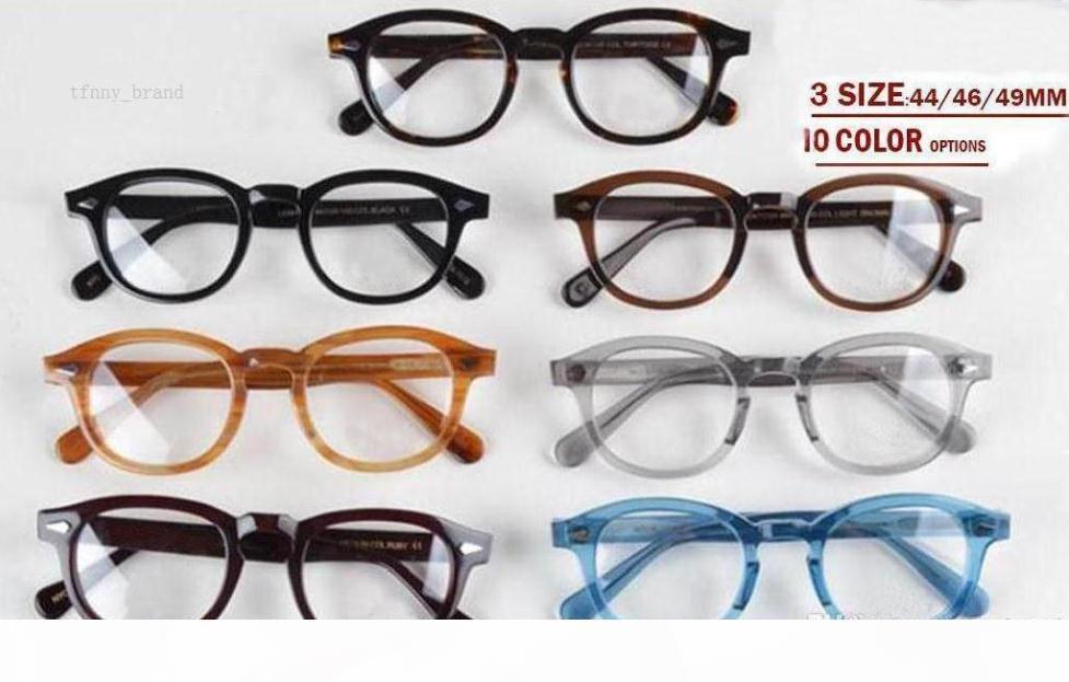 أعلى جودة النظارات الإطار عدسة واضحة جوني ديب نظارات قصر النظر النظارات lemtosh قصر النظر من الرجال والنساء السهم برشام 1915 S M L حجم مع حالة