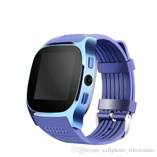 T8 GPS Smart Watch Bluetooth Passometer Sports Activities Tracker Smart Wristwatch With Camera Clock SIM Slot Bracelet For Iphone Android