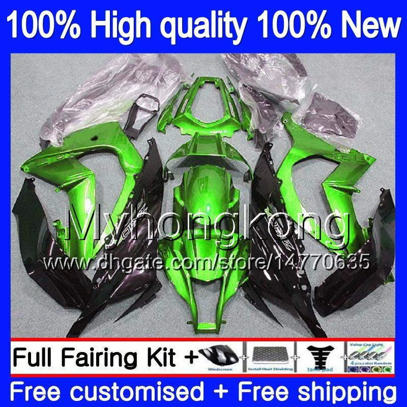 Injection OEM For KAWASAKI ZX-10R 1000CC 2016 2017 2018 335MY.14 ZX1000 ZX 10 R ZX 1000 ZX 10R ZX10R 16 17 18 100% Fit Gloss green Fairing