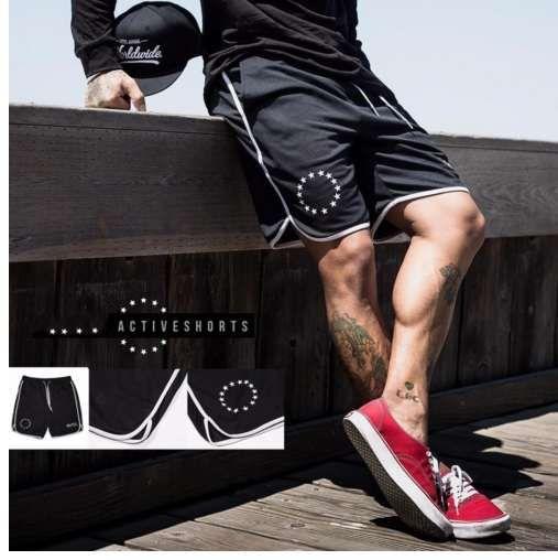Pantaloncini da jogging sportivi da uomo di marca 2018 estate Pantaloncini da uomo dimagranti neri da bodybuilding Pantaloncini sportivi da palestra per l'allenamento