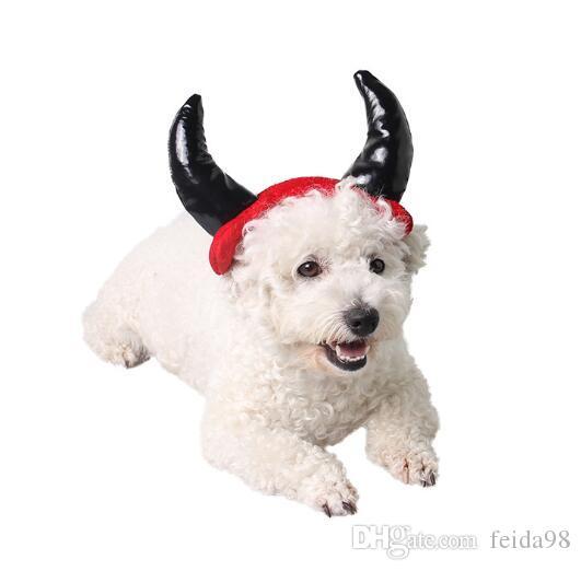 Ablaze ZAL all'ingrosso di Halloween cappello gatto domestico fornisce corno cappello del cane diavolo wl1105 copricapo