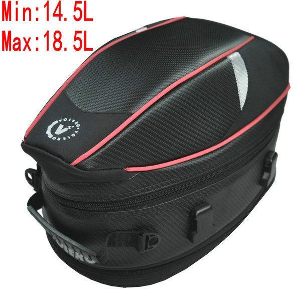 دراجة نارية حقائب المقعد الخلفي volero موتو ماء الخلفية مقعد حقيبة متعددة الوظائف tailbags 14.5L-18.5L خوذة داخل