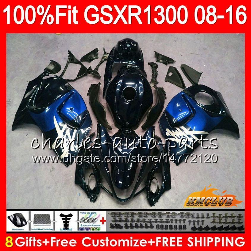 Iniezione per SUZUKI GSXR1300 Hayabusa 08 09 10 2008 blu scuro 2009 2010 25HC.126 GSXR 1300 GSXR-1300 11 12 13 2011 2012 2013 Carenatura OEM