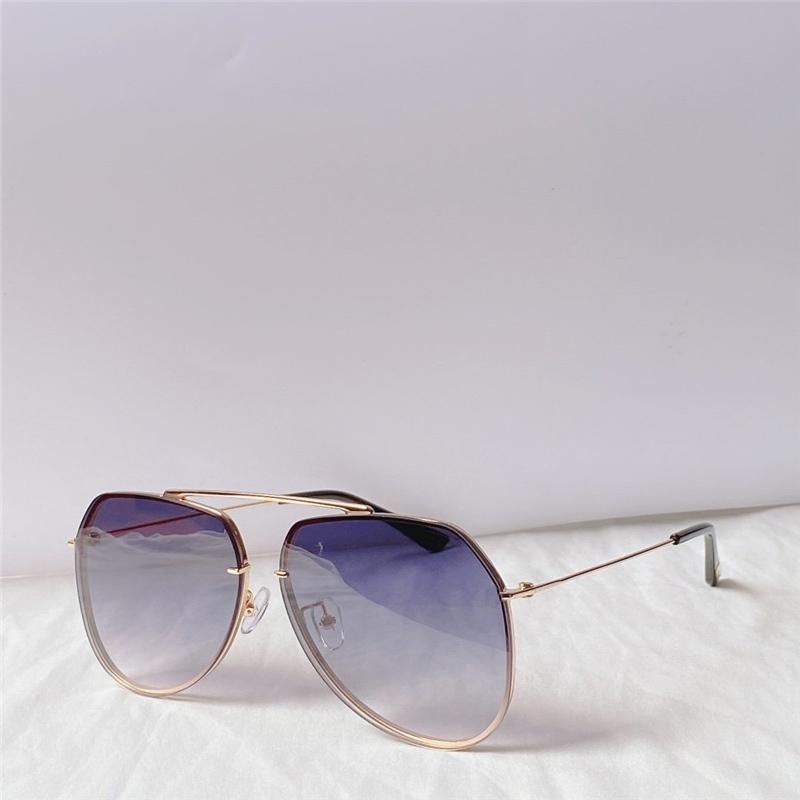 Yansıma Anti-Yansıma Lüks Tasarımcı Güneş Gözlüğü Vintage Pilot Retro Moda Güneş Cam En Kaliteli Marka Gözlük Kadın Erkek 0795 FNHGT