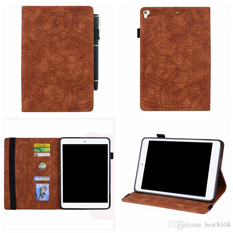 Fiore Lace Portafoglio in pelle per iPad Mini 1 2 3,4, Ipad 2 3 4, 5 6 Air 2 9.7' 10.2 2019 lusso di Bling la carta di identificazione della scanalatura del supporto della copertura della pelle