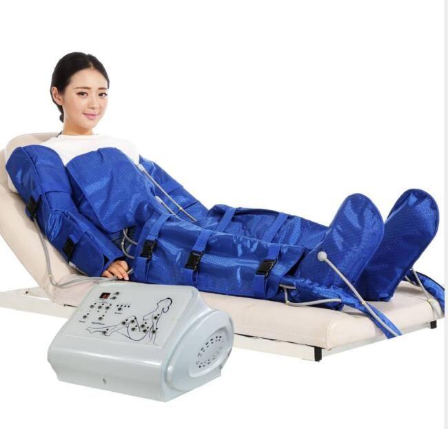 المحمولة الضغط الليمفاوية الصرف الهواء Pressotherapy تشكيل الهيئة ساونا تدليك التصريف اللمفاوي البدلة الجسم التخسيس آلة Pressotherapy