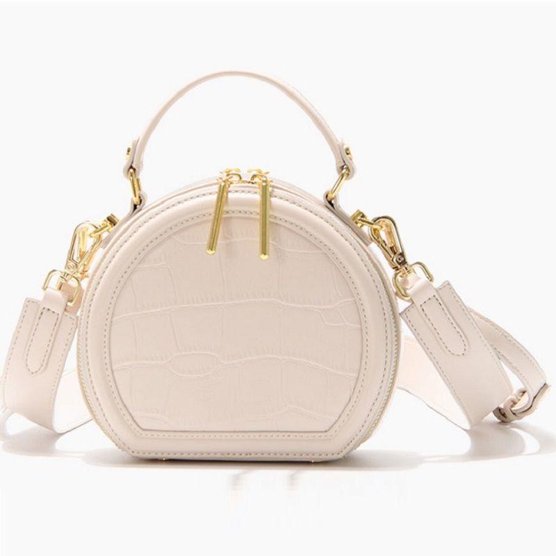 Кожаная вечеринка круг сумка женские сумки женские сумки жеребезгики Chaker Crossbody сумки мода круглый плечо красный PU оптом PUBMM