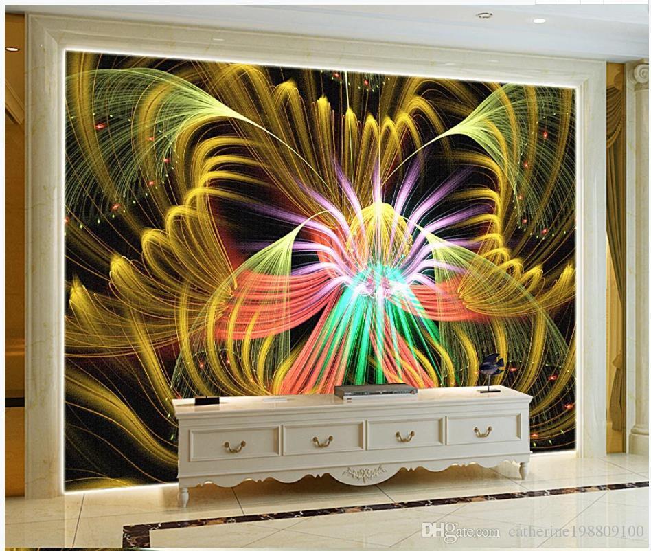 Coloridas flores, arte, bar, papel tapiz, decoración, post KTV, fondo, pared, sala de estar, fondos de pantalla