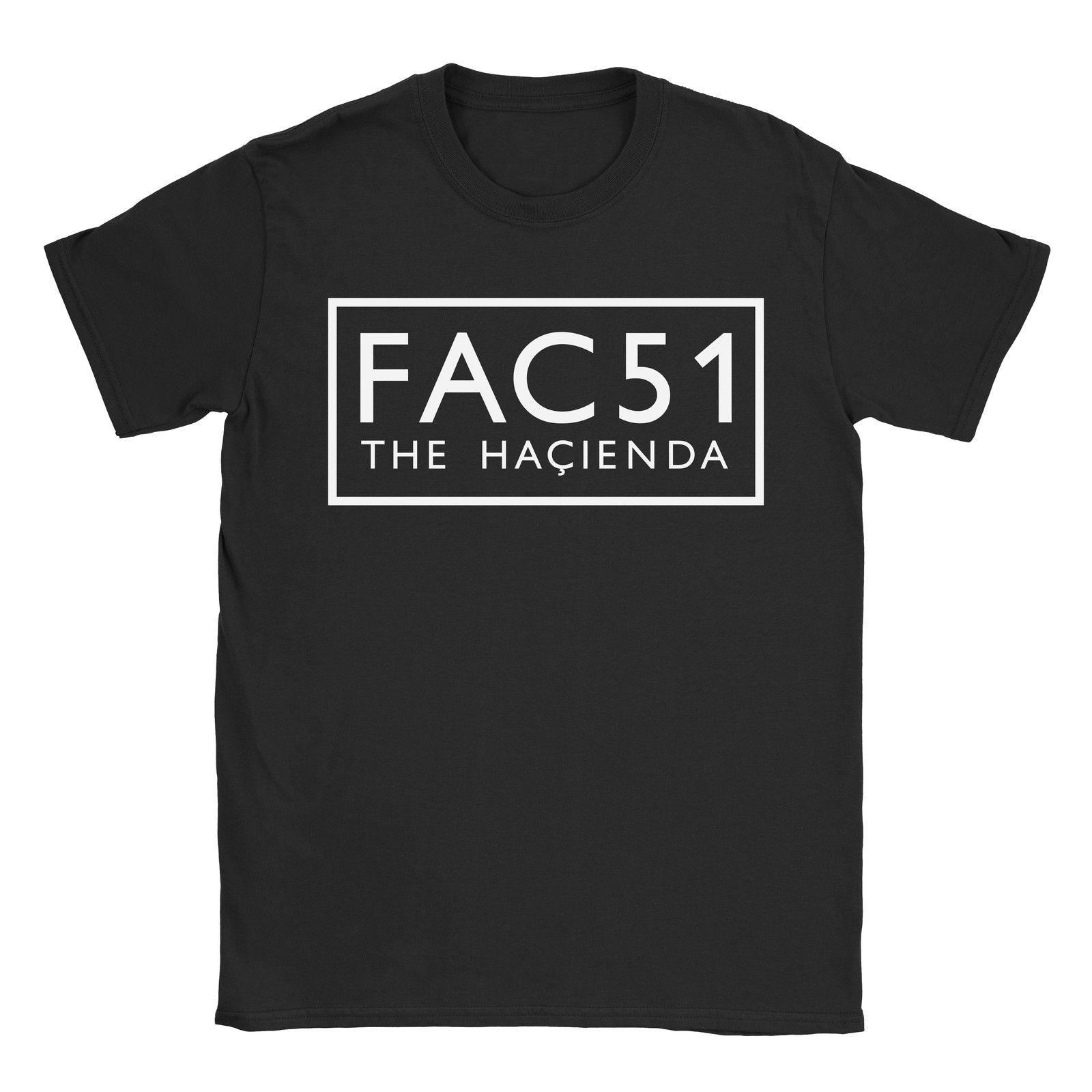 FAC51 Womens T-Shirt Factory Records Hacienda Stone Roses Happy Mondays