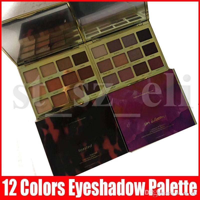 2 Estilos de maquillaje de la cara tostada paleta de 12 colores de sombra de ojos sombra de ojos en la floración arcilla paleta de productos naturales de alto rendimiento de sombra de ojos