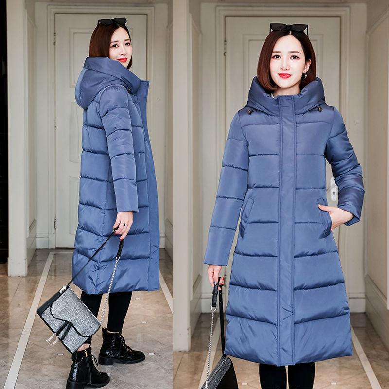 Chaqueta de la capa del invierno abajo algodón Nueva cálido algodón acolchado Parka Abrigos Mujeres largo espesar algodón caliente abrigos Mujer Plus tamaño de abrigo