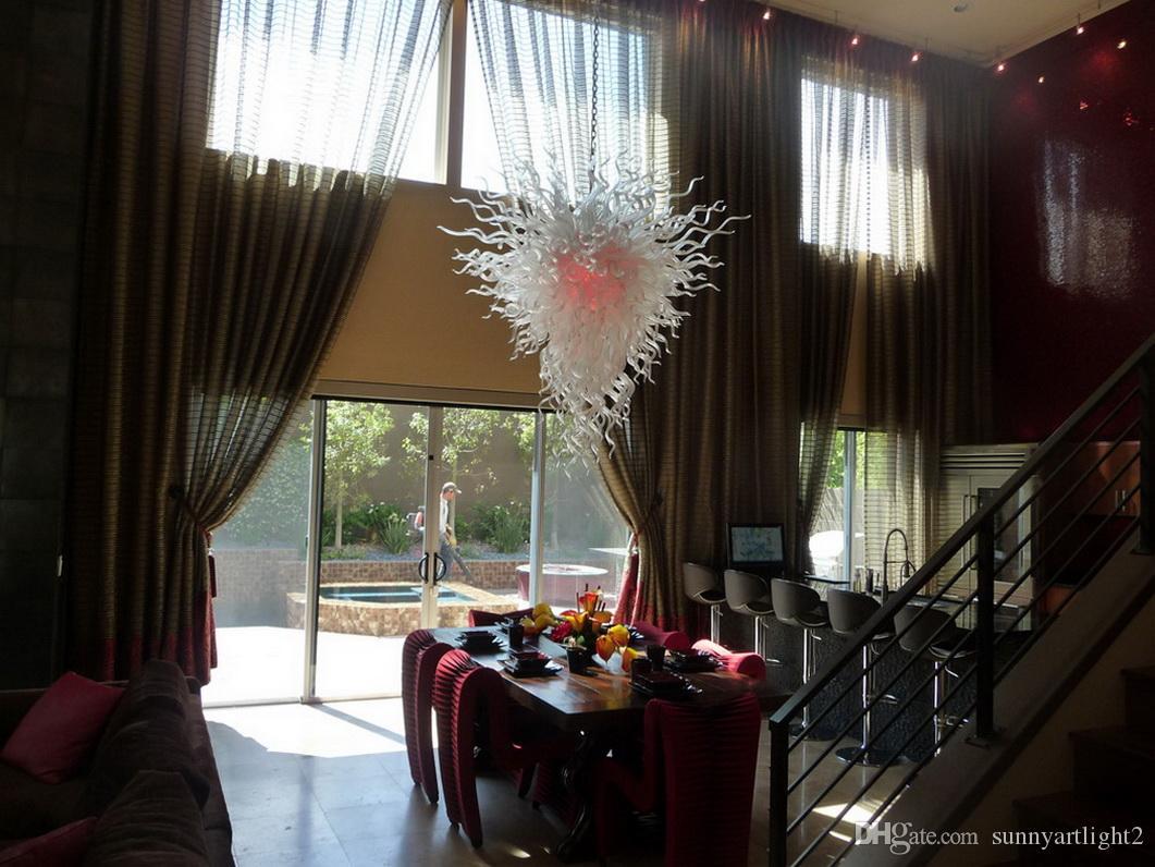 Decoração de Casamento marroquino Iluminação Moderna Lustre 100% Soprado Boca Borosilicato Dale Chihully Estilo Barato Murano Lâmpadas