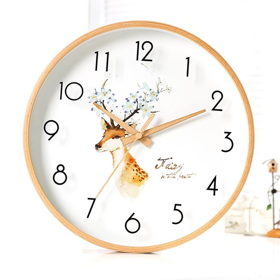 Large Modern Wall Watch Quartz Silent Kids Nordic Retro Wooden Home Vintage  Wall Clock Kitchen Wood Klok Wallclock QZE173 Large Kitchen Clocks For ...