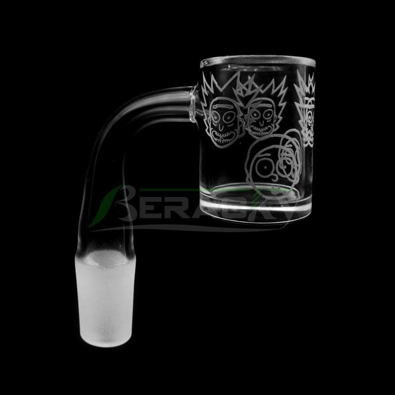 Beracky Pattern Beveled Edge 4mm Bottom Smoking Quartz Banger 10mm 14mm 18mm Male Female 45/90 Nails For Glass Water Bongs Pipes Rigs