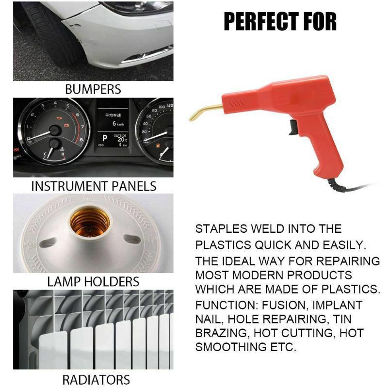 Saldatori Garage Strumenti Hot Staple kit di riparazione del PVC per il veicolo auto Paraurti Dashboard ALI88