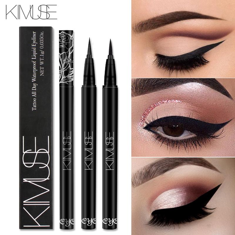 black eyeliner pencil waterproof long lasting quick dry soft head super slim smooth liquid eyeliner tattoo pen KS606
