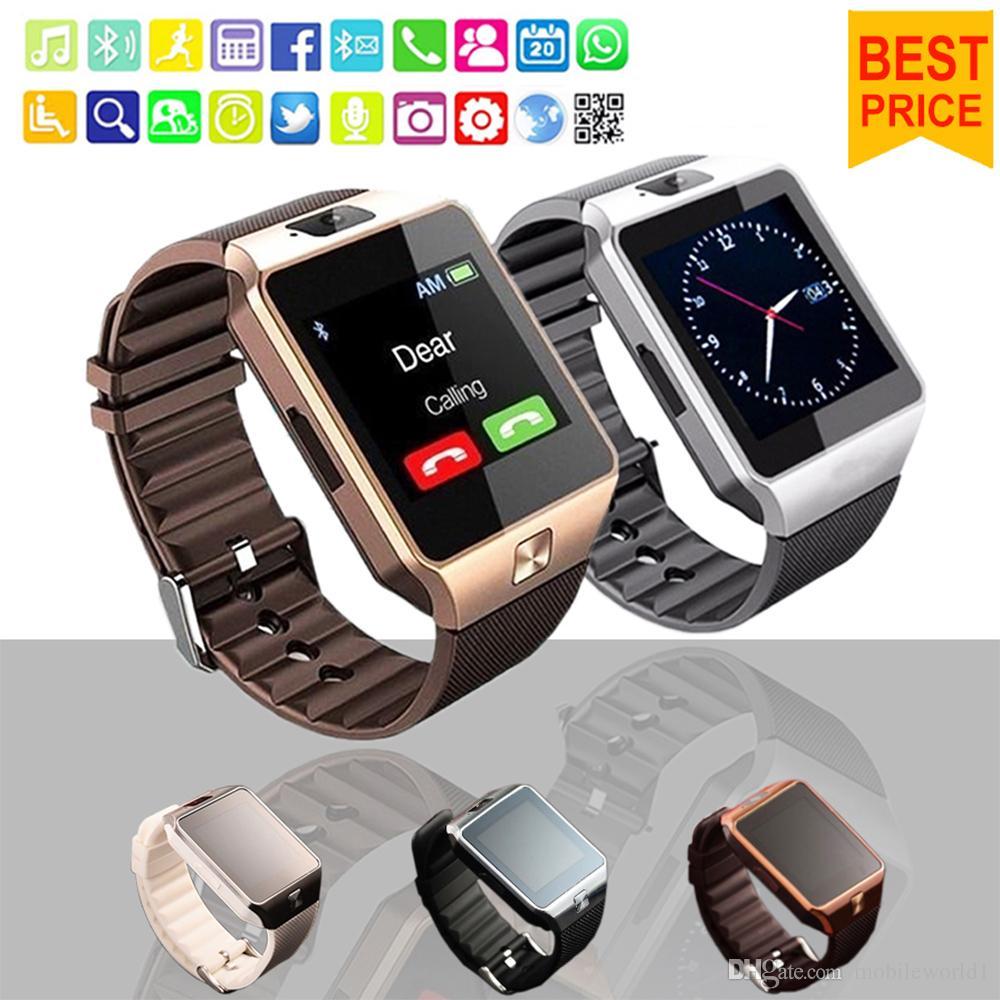 Smartwatch DZ09 Bluetooth Smart Uhr mit SIM-Kartensteckplatz für Apple Samsung IOS Android-Handy 1,56-Zoll-Smart-Uhren