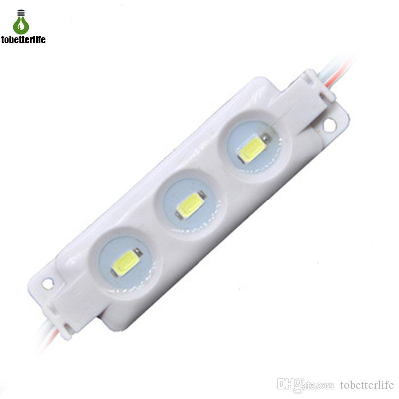 5630 LED أضواء وحدة DC12V حقن ABS 3LEDS السوبر مشرق أبيض / أبيض دافئ الأحمر الأزرق الأصفر سلسلة مقاوم للماء IP65