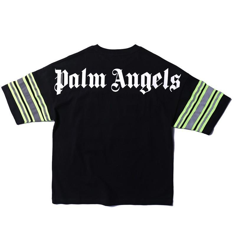 Großhandel 19SS Palm Angels NO.33 Tee Mode 3 Mt Reflektierende Männer Frauen Lose Beiläufiges T Shirt Streetwear Hip Hop Sport Rundhalsausschnitt