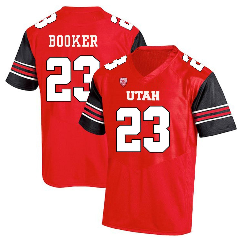 Custom Any Name Utah Utes Number red black #1 Tyler Huntley 11 Alex Smith 2 Zack Moss Mariner Fotheringham NCAA College Football Jersey
