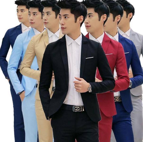 In Stock New Spring Autumn Thin Men Blazer Cotton Slim England Suit Blaser Masculino Male Jacket Blazer Men Size M-3XL