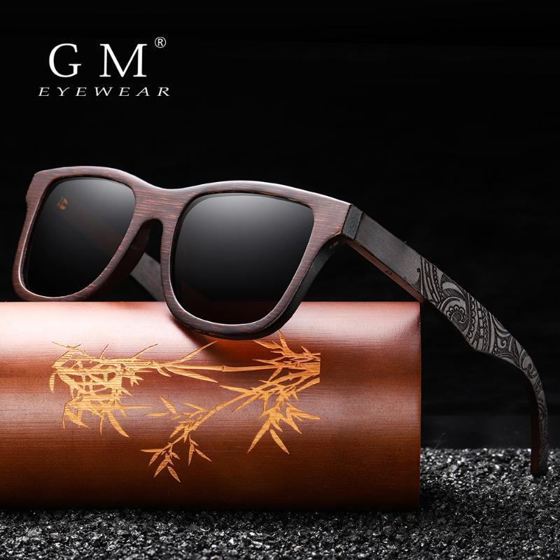 GM El Yapımı Doğal Ahşap Güneş gözlüğü Kadınlar Erkekler Marka Tasarım Vintage Moda Gözlük Gri Polarize Lens Kabul OEM 1610BN