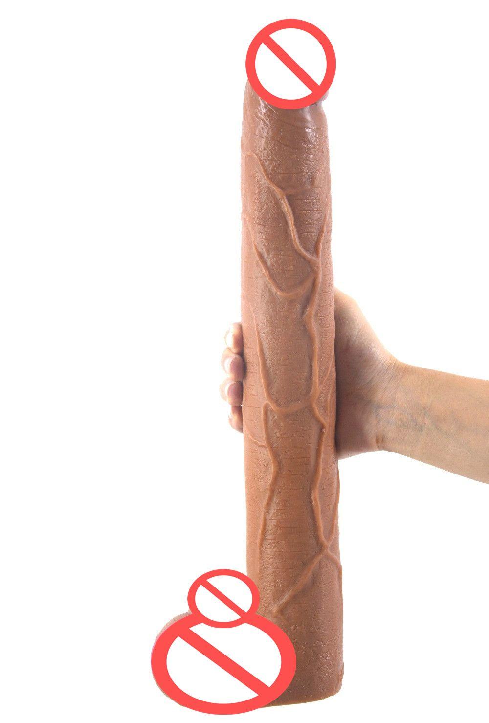 Lzyaa Brown Dildo Long Dildos Dildo 39 * 5.6cm Énommandes adultes Jouet Dong Dong réaliste pour Penis Grand Anal Sexuelstoys Femmes Érotique Grand Produit H WBPE