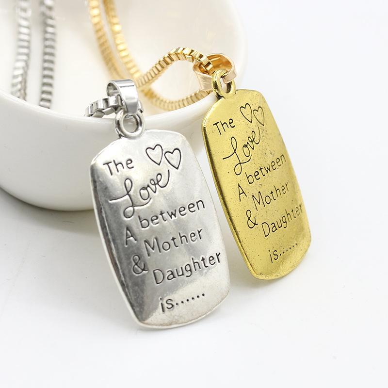 """Squisita collana madre """"L'amore tra una madre figlia è"""" Figlia Collana con collane di famiglia"""