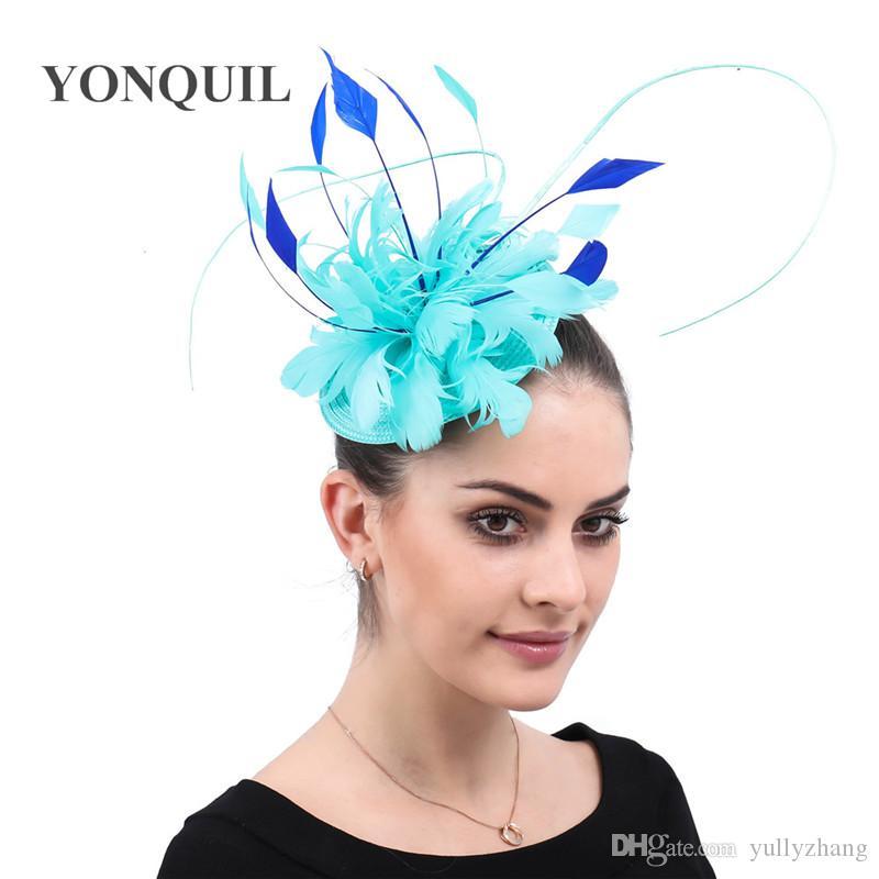 Nuevo diseño Vintage Headwear fascinators elegante iglesia mujeres sombreros accecssories para occaison evento té headwear envío gratis SYF564
