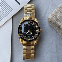 2020 Hot 40mm or noir Hommes montres mouvement à remontage mécanique automatique en acier inoxydable montres-bracelets de luxe montre