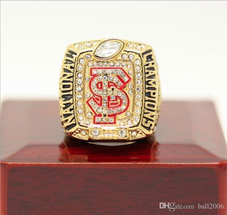 1996-2013-2014 Florida State University Liga NCAA Campeonato Anel Amigos Presente de Aniversário Coleção Lembrança