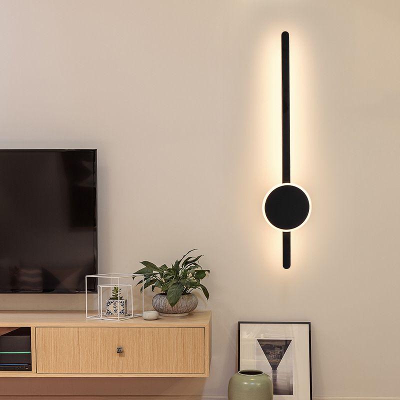 현대 미니멀 아트 벽 램프 북유럽 거실 라인 벽 램프 계단 배경 장식 램프 조명