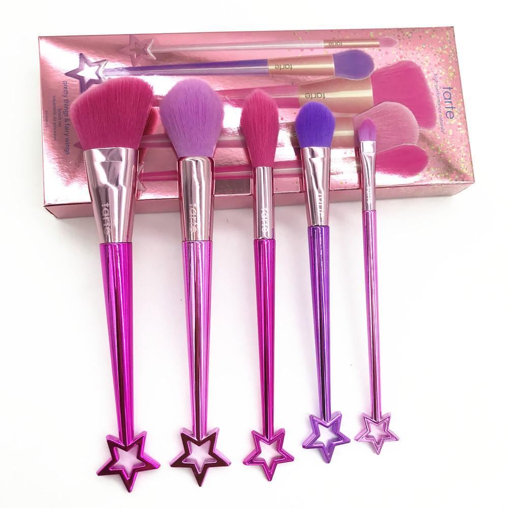5pcs étoile pinceaux de maquillage mis en sourcils ombre Fondation poudre cosmétique pinceau étoile décoratif poignée pinceau de maquillage beauté outils kits GGA1900