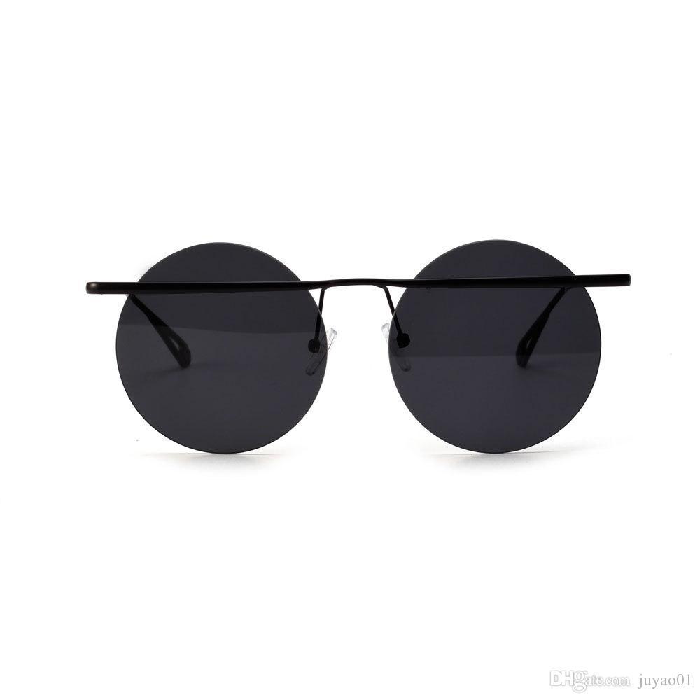 Женская Мода Круглые Ретро Металлические Солнцезащитные Очки Мужской Кошачий Глаз Форма Очки Анти-Уф-Защита Путешествия Солнцезащитные Очки Вождения ЗеркалоWo