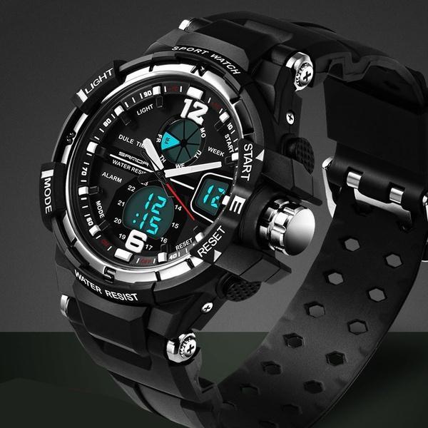 Compre 2016 Nueva Marca SANDA Reloj De Moda Hombres G Estilo Impermeable  Deportivo Relojes Militares Reloj De Lujo De Cuarzo Analógico Digital De  Los ... 49a0d821a082