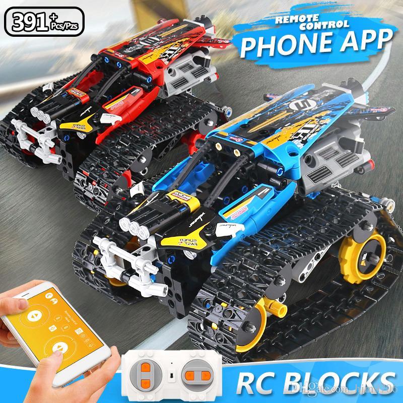 تكنيك 13032 13036 الخالق APP التحكم عن بعد طوب البرمجة السيارات RC مجنزرة المتسابق نموذج بناء كتل اللعب للحصول على هدايا للأطفال