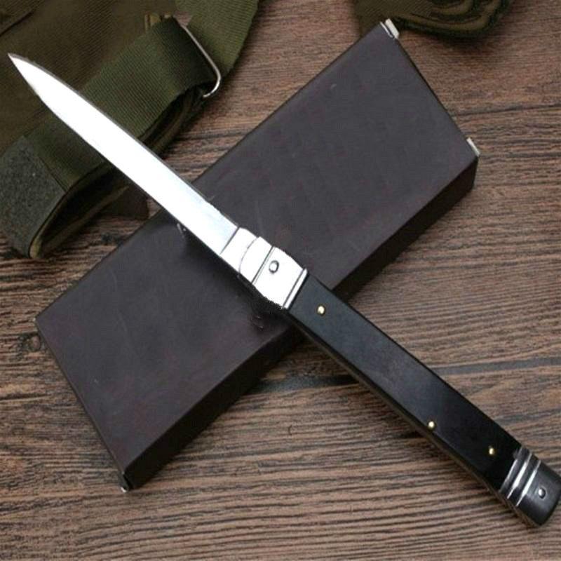 OEM Mict mafia cuchillos 11 pulgadas mango del palo de rosa de regalo simple acción ITA cuchillo automático camping de la caza para el hombre