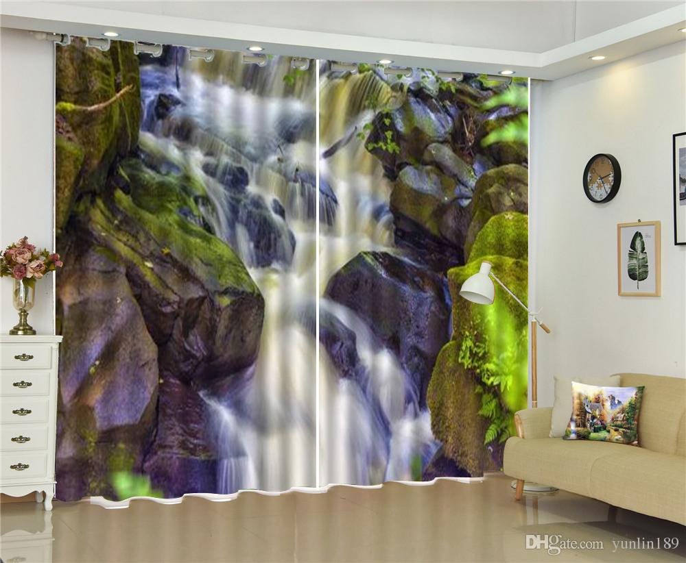 2019 Custom 3d High Definition Scenery Curtain Beautiful Scenery Waterfall  Living Room Bedroom Beautiful Practical Blackout Curtains From Yunlin189,  ...