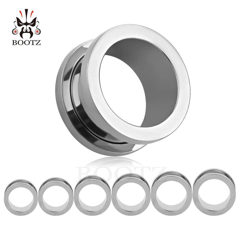 Kubooz ثقب شعبية 8 ألوان المقاوم للصدأ أنفاق الأذن والمقابس الأذن مقاييس نقالات ثقب المجوهرات 6-25 ملليمتر