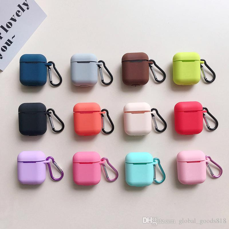 12 Color For Airpods Case with Ring Slicone Protective Shelter for Apple Air pods Wireless Earbuds Cover