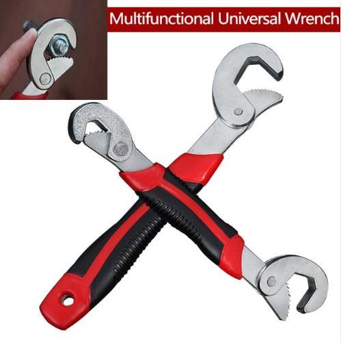 R/églable Cl/é /À Cliquet Set Grip Spanner Outil Multifonctions Universel Portable Pour Voiture 2 Pcs R/éparation