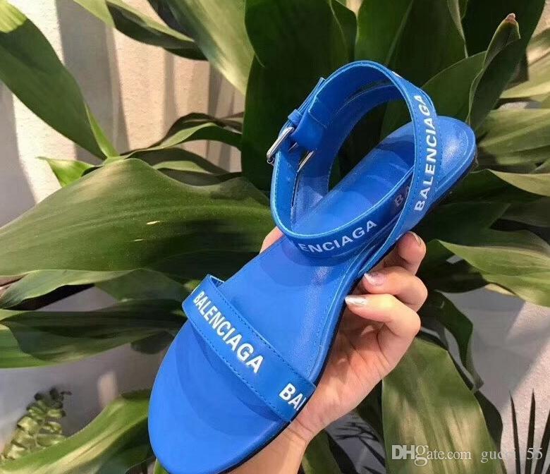 Venta caliente francesa sandalias de las mujeres Super marca de diseño sandalias de tiras planas moda casual trabajo de calidad superior BL24