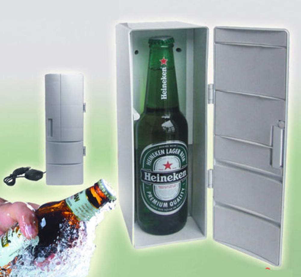 Portátil Mini USB Frigorífico Car portátil Freezer refrigerador Warmer dupla utilização Frigorífico com luz LED
