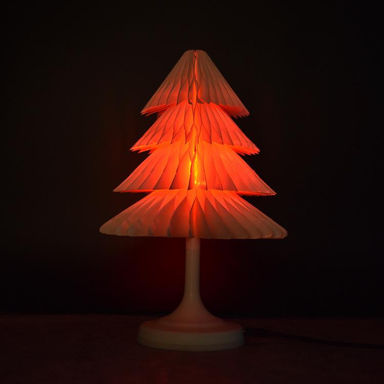 LED Décoration Lampes d'arbre de Noël Papier Kraft livre veilleuses 2.5W USB Charge changeables LED coloré capteur tactile Night Lights