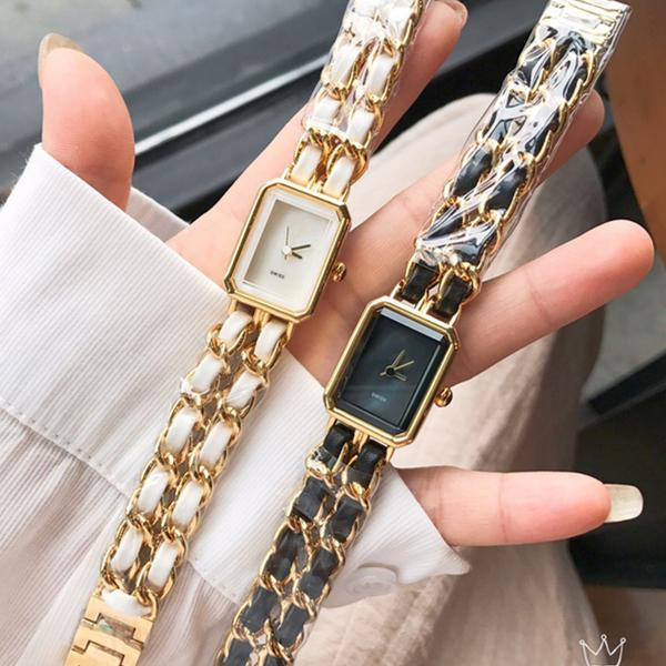 Fashion New Model Women Watch Leather band gold/silver Special Design Relojes De Marca Mujer Lady Dress Watch Quartz Wholesale price