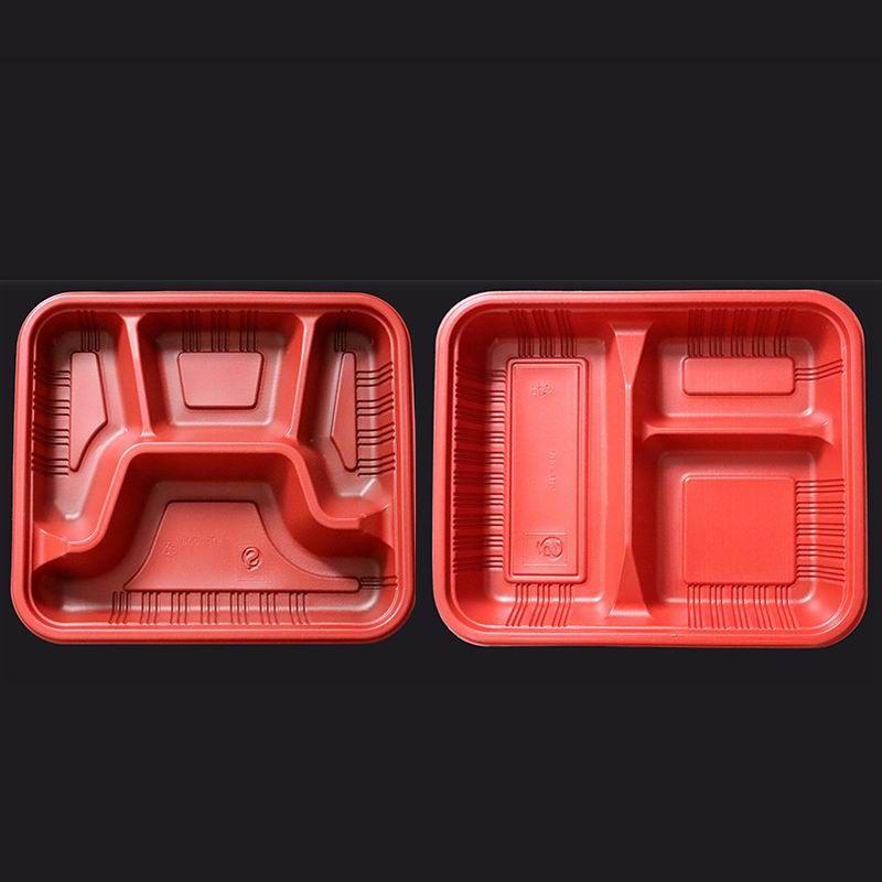 Tek kullanımlık konteynerleri çıkarın öğle yemeği kutusu mikrodalga edilebilir malzemeler 3 veya 4 bölmesi yeniden kullanılabilir plastik gıda saklama kapları kapakları