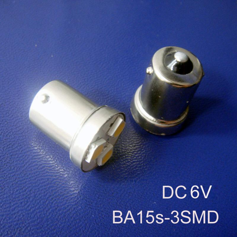 Alta qualità DC6V BA15S lampadina, 1156,1056, R5W, R10W, 5007,5008 lampada a LED, PY21W, P21W, 1141, BAU15s ha portato la lampadina illumina il trasporto libero 5pcs / lot
