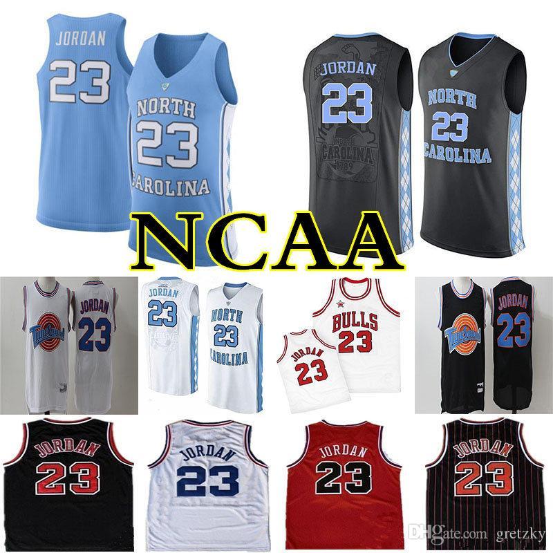 Мужские 23 Майкл Джерси Космическая Варенье Слома Squad NCAA Северная Каролина Тар-каблуки Джерси Баскетбол