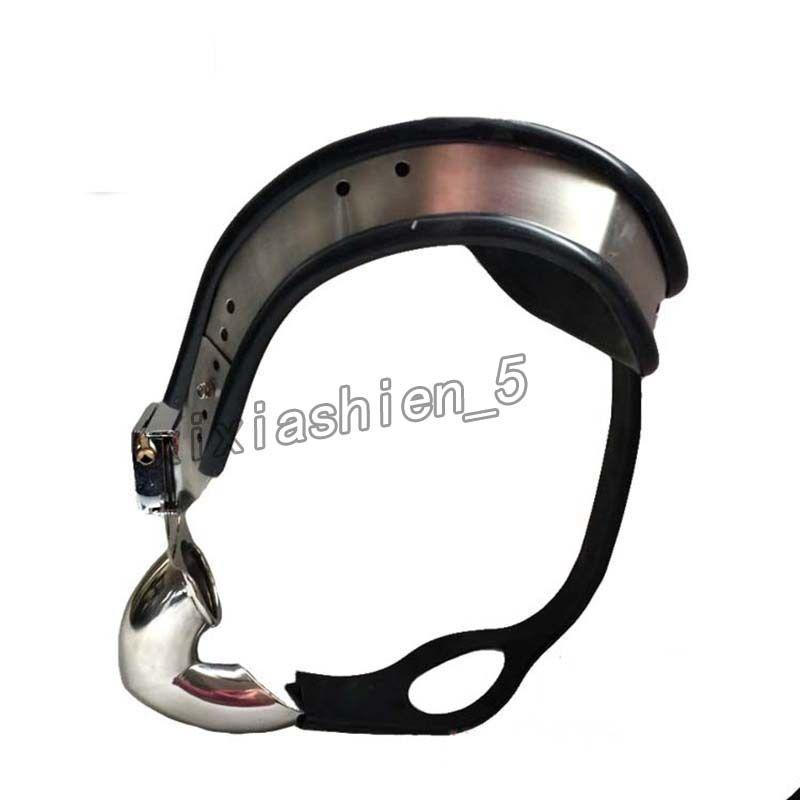 Overalls shape Design Fully Adjustable Stainless Steel Male Chastity Belt Device #R45